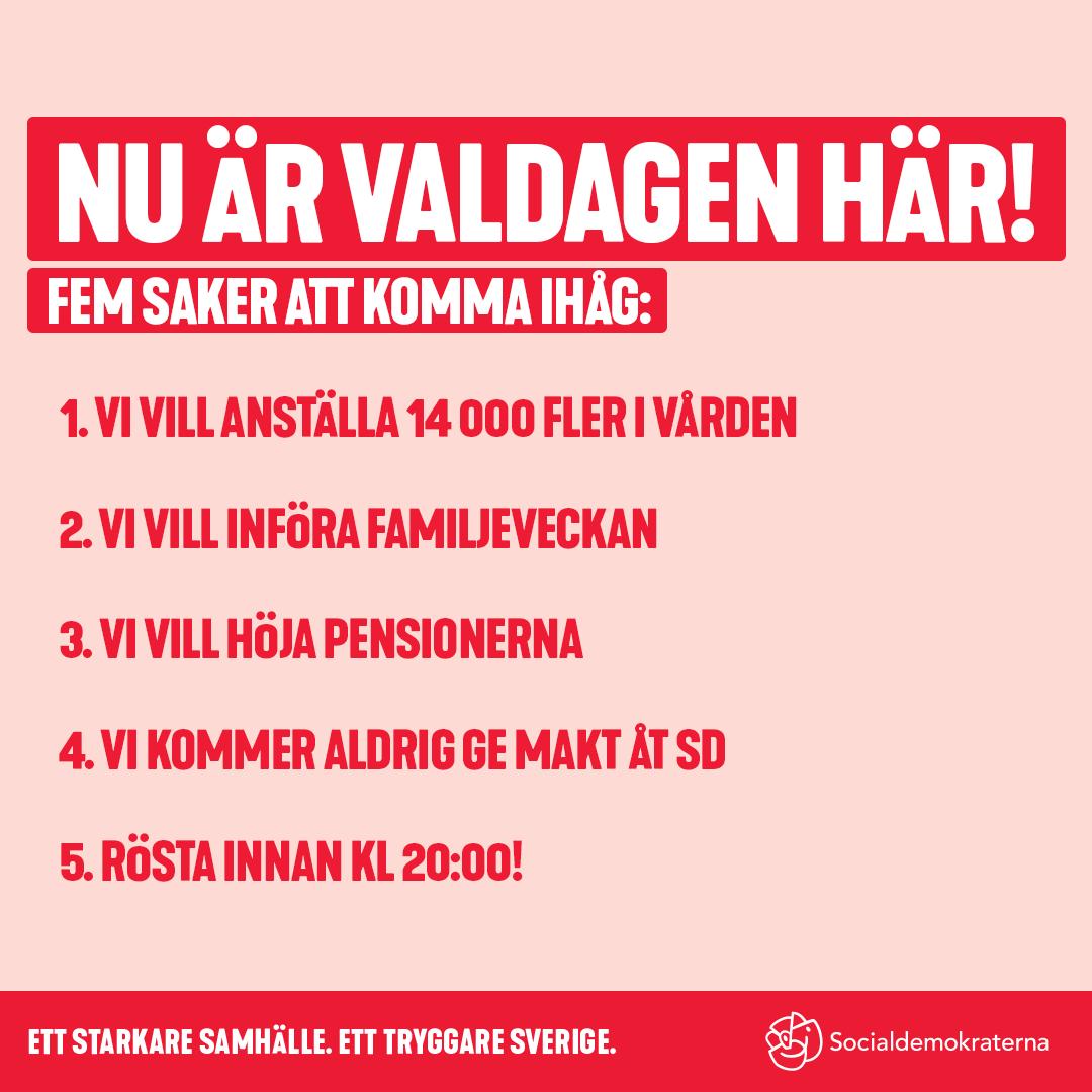 Nu är valdagen här! – Socialdemokraterna Nyköping ff51d864175dc